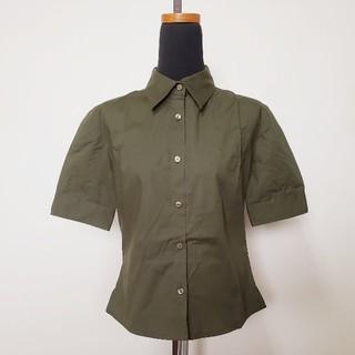 VIVAYOU - VIVAYOU ビバユー / ミリタリー カーキ色 ワイシャツ / サイズM