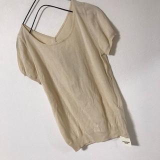 ストロベリーフィールズ(STRAWBERRY-FIELDS)のストロベリーフィールズ トップス ブラウス 薄手 新品 リボン レディース M(シャツ/ブラウス(半袖/袖なし))