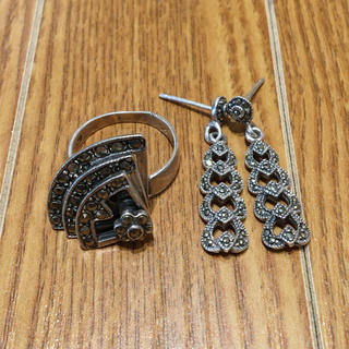 925刻印 円形リング シルバーピアスセット(90016351)(リング(指輪))