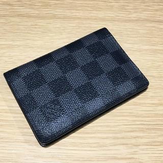ルイヴィトン(LOUIS VUITTON)のLV ダミエ 黒 二つ折り カードケース(94002735)(名刺入れ/定期入れ)