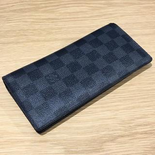 ルイヴィトン(LOUIS VUITTON)のLV ダミエ 黒 二つ折り 長財布(94002734)(長財布)
