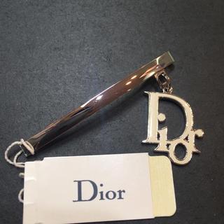 クリスチャンディオール(Christian Dior)の☆未使用品☆Dior ヘアアクセサリー ミニバレッタ ロゴチャーム トロッター(バレッタ/ヘアクリップ)