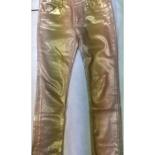ルイヴィトン(LOUIS VUITTON)のお値下げ 美品 ルイヴィトン ゴールド パンツ(デニム/ジーンズ)