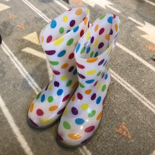 ホーキンス(HAWKINS)の長靴 レインシューズ 子供用 ホーキンス 19cm 美品 水玉(長靴/レインシューズ)