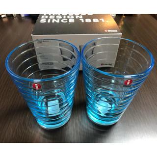 イッタラ(iittala)のイッタラ グラス2個セット アイノアールト 未使用(グラス/カップ)