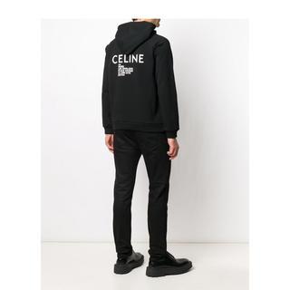 セリーヌ(celine)のceline 20ss フード付きスウェット / プリント コットンフリース(パーカー)