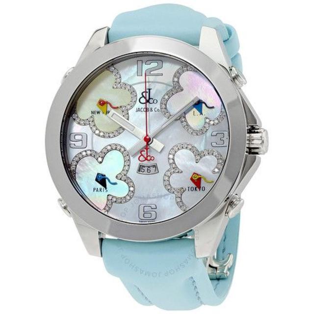 ジン偽物腕 時計 、 ジェイコブ Five Time Zone Diamond-Accented の通販