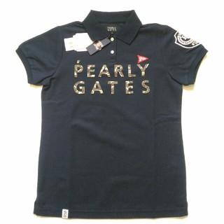 パーリーゲイツ(PEARLY GATES)のパーリーゲイツ プライムフレックス 2段ロゴカモ 半袖ポロシャツ レディース(ウエア)