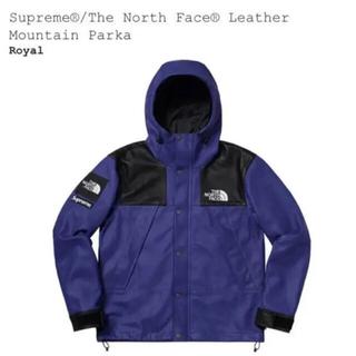 Supreme - supreme north face レザー マウンテンパーカー