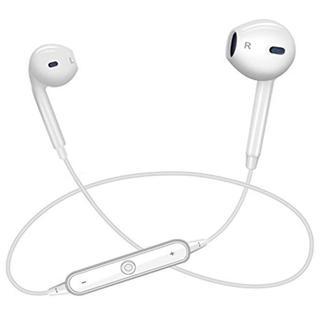 格安!ワイヤレスイヤホン Bluetooth 白 新品未使用 充電器付き(ヘッドフォン/イヤフォン)