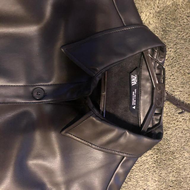 ZARA(ザラ)のレザージャケット 黒 メンズのジャケット/アウター(レザージャケット)の商品写真