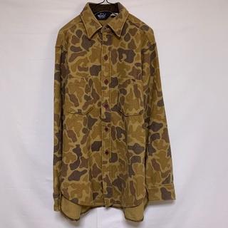ウールリッチ(WOOLRICH)のUSA製 WOOLRICH ウールリッチ 長袖ネルシャツ カモフラ 迷彩 カーキ(シャツ)
