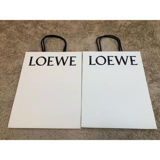 ロエベ(LOEWE)のloewe 紙袋 白(ショップ袋)