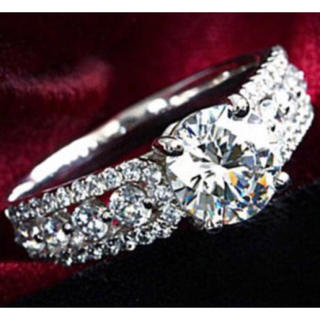 【SWAROVSKI】『アダムの聖祝』豪華 クリスタルリング 指輪(リング(指輪))