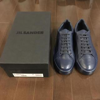 ジルサンダー(Jil Sander)の●新品● JIL SANDER レザースニーカー サイズ40(約27㎝)(スニーカー)