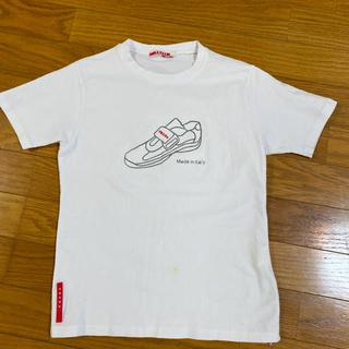 プラダ(PRADA)のPRADA プラダ 白の Tシャツ(Tシャツ(半袖/袖なし))