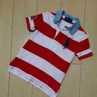 ラルフローレン(Ralph Lauren)のRALPH LAUREN  ラルフローレン☆ボーダー ポロシャツ  3T(Tシャツ/カットソー)
