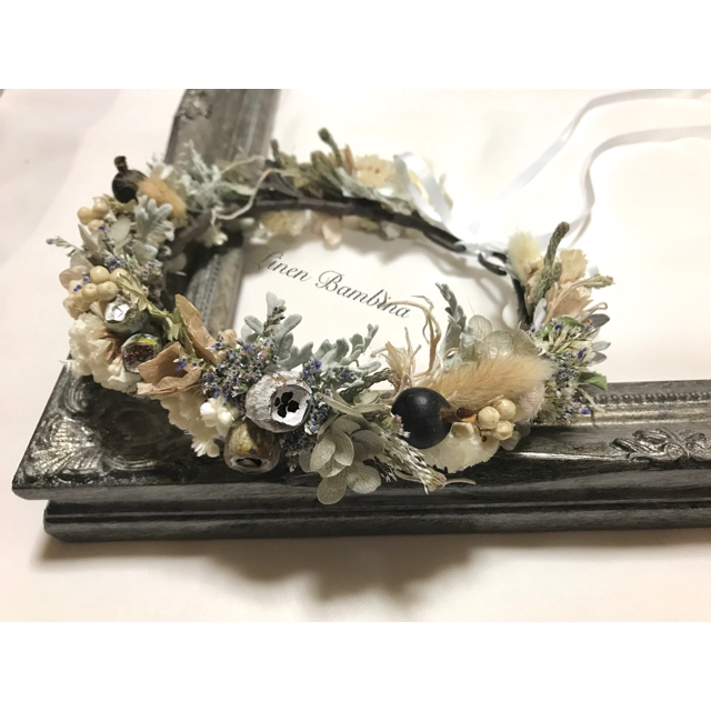 cream33♡様専用(お子様用花かんむり❁⃘*.゚) ハンドメイドのフラワー/ガーデン(ドライフラワー)の商品写真
