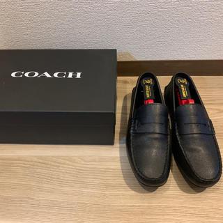コーチ(COACH)の【週末価格】コーチ ドライバーシューズ ブラック 25.0(スリッポン/モカシン)