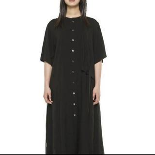 ヨウジヤマモト(Yohji Yamamoto)のGroundY 左胸当て布付ドレス 青色(シャツ/ブラウス(半袖/袖なし))