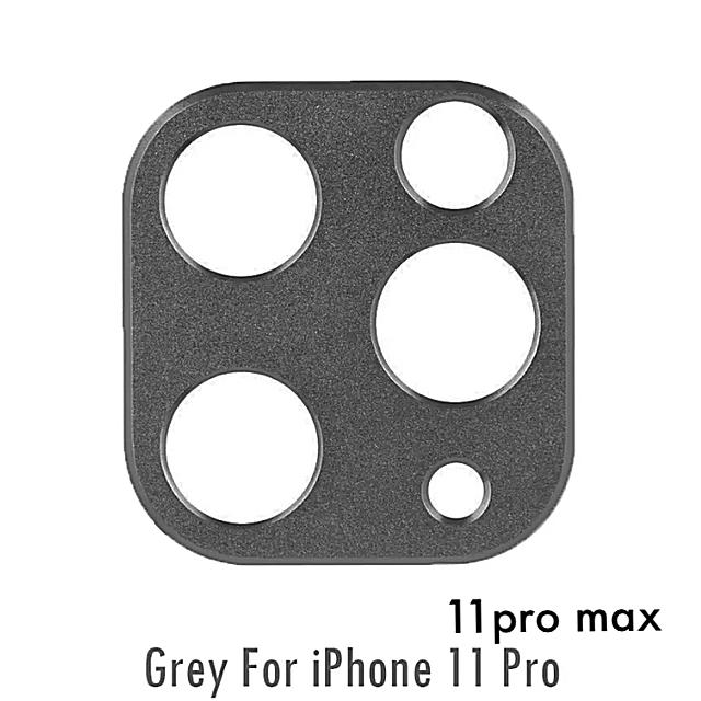 iphone ケース 百均 | 〖新品〗激安 iPhone11pro/proMax カメラプロテクター✦グレーの通販 by AmiAmi♬︎shop|ラクマ