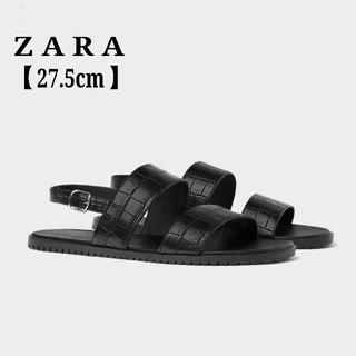 ザラ(ZARA)のZARA ザラ メンズサンダル エンボス加工 ストラップサンダル 27.5cm(サンダル)