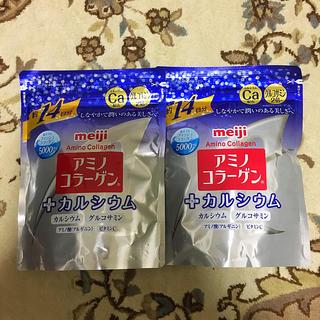 メイジ(明治)のアミノコラーゲン+カルシウム 2袋(コラーゲン)