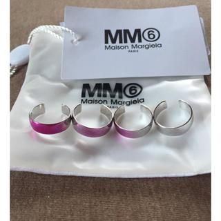 マルタンマルジェラ(Maison Martin Margiela)の新品 メゾンマルジェラ MM6 4連リング 指輪 シルバー 19SS UNI(リング(指輪))