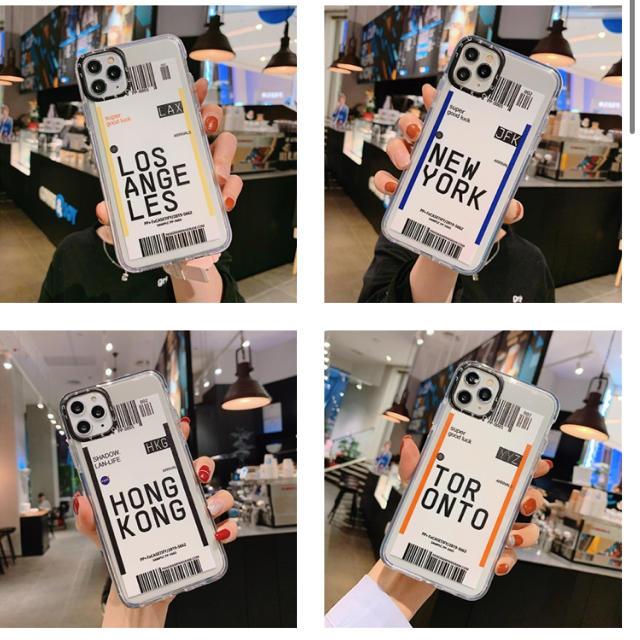 iphone ケース チェーン 、 iPhone11.11pro.iPhone11promax エアーチケット風の通販 by ♡|ラクマ