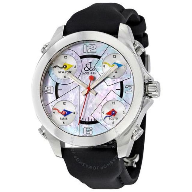 ヴィヴィアン 時計 偽物 見分け方 x50 - ジェイコブ Five Time Zonesの通販
