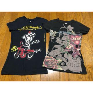 エドハーディー(Ed Hardy)のエドハーディ Tシャツ 半袖 黒 ブラック EdHardy(Tシャツ(半袖/袖なし))
