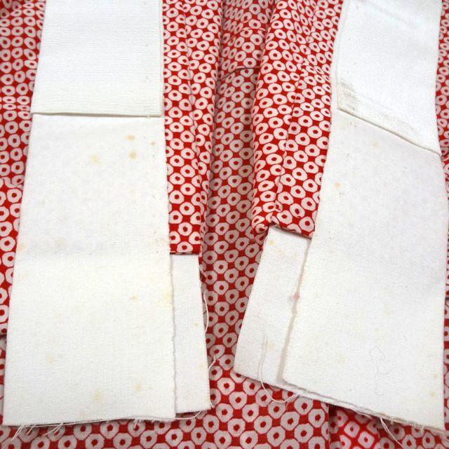 あずき色に疋田調 単衣 長襦袢 レディースの水着/浴衣(着物)の商品写真