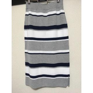 イッカ(ikka)のイッカ  春ニットスカート新品未使用タグ付き1550→1300(ロングスカート)