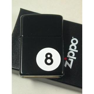 ジッポー(ZIPPO)のZippo 8 エイトボール・ビリヤード 黒 ブラック #28432 USA直(タバコグッズ)