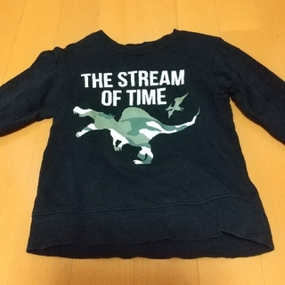 サンカンシオン(3can4on)のスウェット トレーナー 子供服100cm 恐竜 本体綿100%(Tシャツ/カットソー)