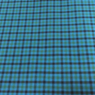 ファミリア(familiar)の正規 ファミリア familiar 採用生地 青 緑 チェック(生地/糸)