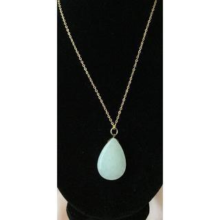 新品 ◆天然石 しずく型 ネックレス(ネックレス)