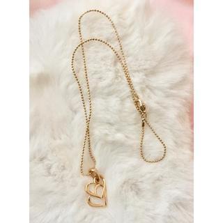 新品 ◆ハート 華やかな金色 ネックレス(ネックレス)
