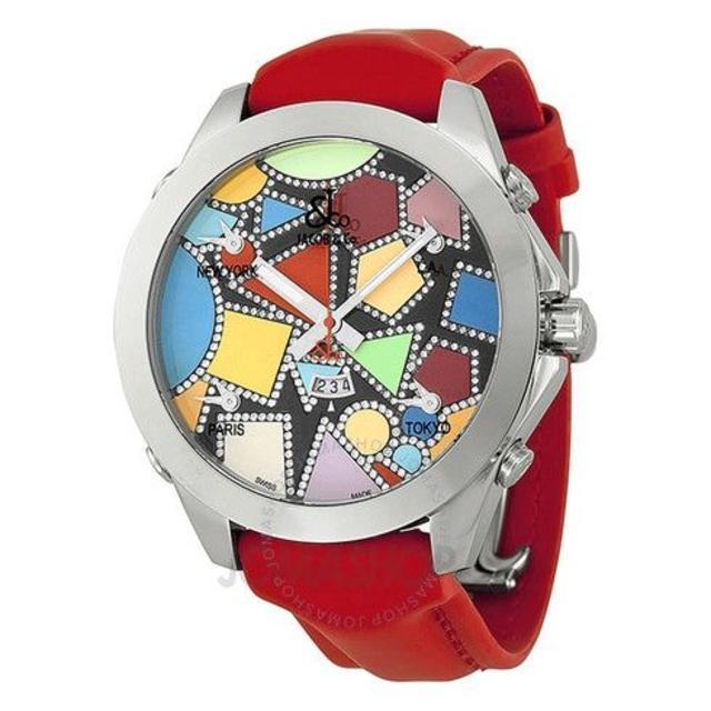 オリエント 時計 偽物 amazon - ジェイコブ  Five Time Zone Diamond-Accentedの通販