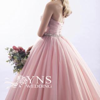 カラードレス  yns wedding ビジューベルト ピンクドレス(ウェディングドレス)