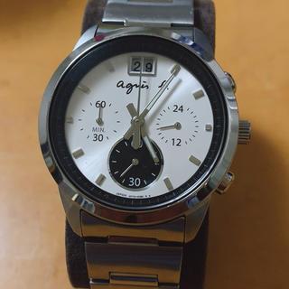 アニエスベー(agnes b.)のアニエスベー クロノグラフ 腕時計(金属ベルト)