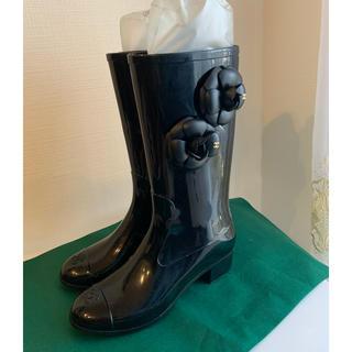 シャネル(CHANEL)の超美品 パリシャネルショップにて購入 シャネル レインブーツ(レインブーツ/長靴)