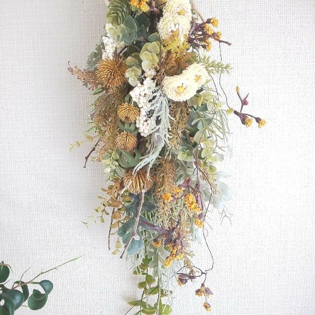 *専用*デージー&オレンジ小花    フェイクスワッグ ハンドメイドのフラワー/ガーデン(その他)の商品写真