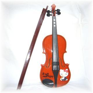 ハローキティ(ハローキティ)の★ハローキティ★バイオリンPILOT★ひけちゃうバイオリンHelloKitty(楽器のおもちゃ)