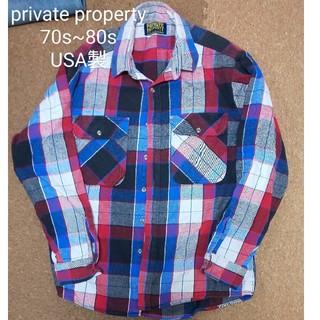 ウールリッチ(WOOLRICH)の80s private property ヘビーネルシャツ ヴィンテージ(シャツ)