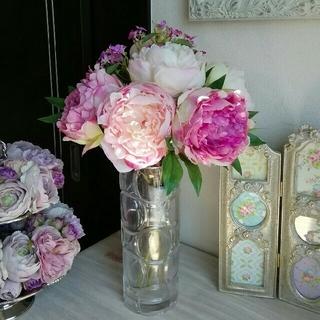 みい様ご専用 造花 アレンジメント ピオニーブーケ ブーケ 花瓶セット(その他)