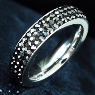 【SWAROVSKI】『金属アレルギー対応』ステンレスリング 指輪(リング(指輪))