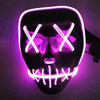 レペゼン地球 O2MEN 光る お面 仮面 ハロウィン コスプレ LED(小道具)