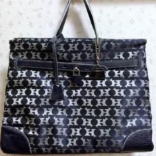ハマノヒカクコウゲイ(濱野皮革工藝/HAMANO)のポーチ&チャーム付き 濱野  130周年記念 アニバーサリー バーキン型バッグ(ハンドバッグ)