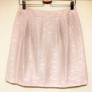 ストラ(Stola.)のstola ストラ 淡いピンク 桜色スカート 美品 40(ひざ丈スカート)